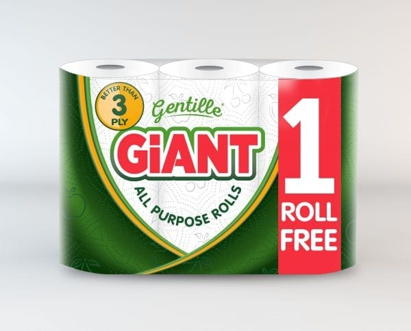 Gentille Giant 3 Pack Kitchen Roll